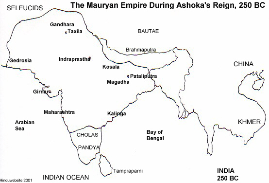 Map of vedic india ancient world history map of mauryan empire gumiabroncs Gallery