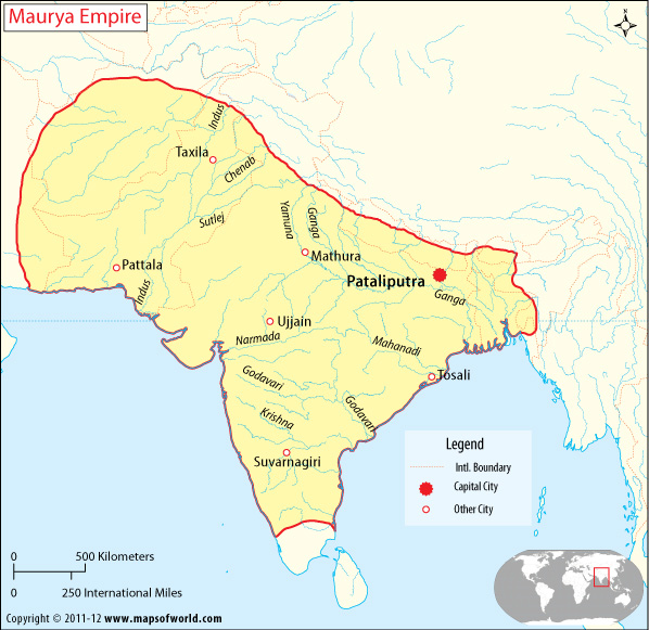 Map of vedic india ancient world history map of mauryan empire gumiabroncs Choice Image